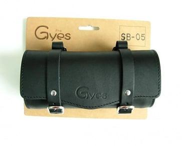 Gyes SB-05 Bicycle Leather Seat tool bag black