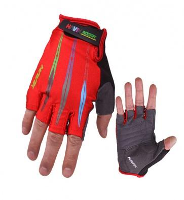 Havik Challenger Half Finger Gloves Red