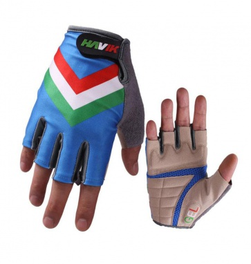 Havik 311 Flag Italia Blue Half Finger Cycling Gloves
