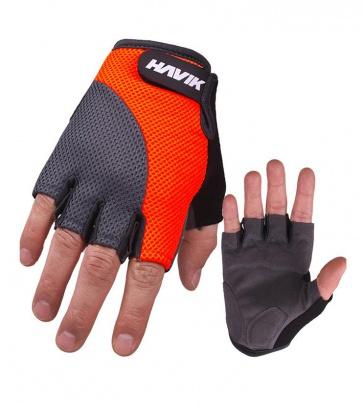Havik 534 Meshfull Half Finger Gloves Sponge Pads Orange Gray
