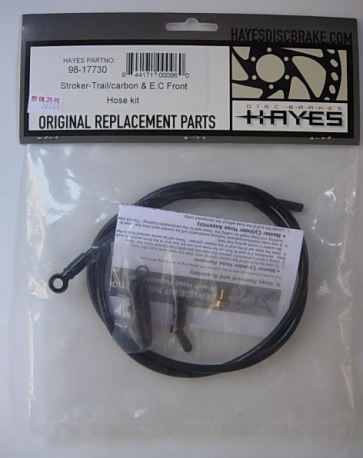 Hayes Stroker Trail carbon &E.C front Hose Kit 98-17730