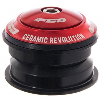 "FSA ORBIT Z ZEROSTACK 1-1/8"" CERAMIC RED/BLACK"
