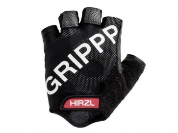 Hirzl Grippp Cycling Gloves Tour FF Kangaroo Half Fingers Black