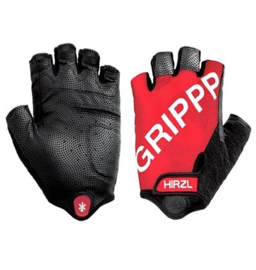 Hirzl grippp cycling gloves tour ff kangaroo half fingers red