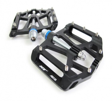 HT AE02 EX lightweight Flat Pedals MTB BMX Black