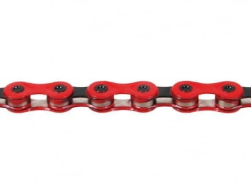 KMC X9 bicycle chain 9speed red black