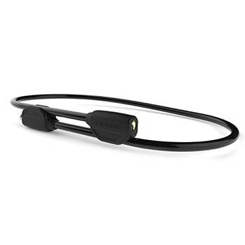 HIPLOK POP WEARABLE 1.3m STEEL CABLE LOCK BLACK