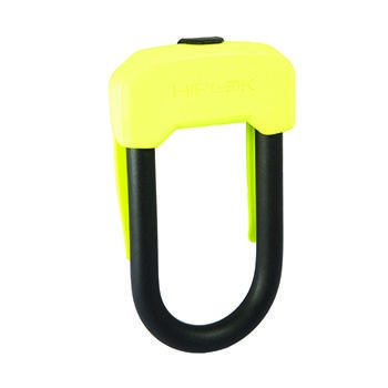 HIPLOK D 13mm WEARABLE LOCK w/ CLIP LIME