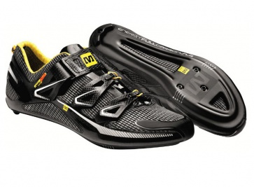 Mavic Huez Road Bike Shoes Black White Yellow