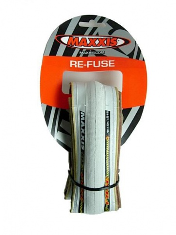 Maxxis ReFuse Road Bicycle Tyre Tire 700x23c White