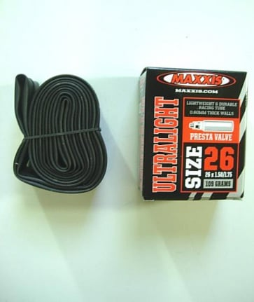 Maxxis Ultralight Mountain Bike Inner Tube 26x1.5-1.75