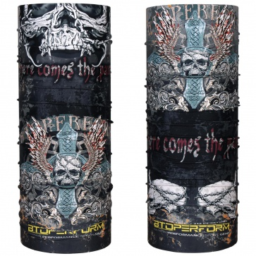 Btoperform Skull Cross Multi-functional Antimicrobial Headwear MH-106