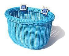 Colorbasket Cord Jr Strap-on Bike Basket Blue