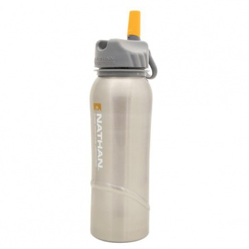 Nathan Stainless Steel Water Bottle 700ml 24oz Logo