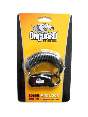 OnGurad 8065 3digit Mini Cable Lock 2.5x1200mm