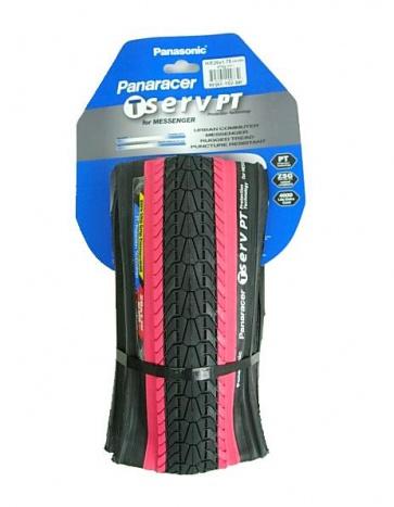Panaracer T-serv Protex Bicycle Tire Tyre 26x1.75 BlackRed 42-559