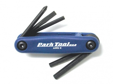 Parktool AWS-9 Fold up hex wrench set bicycle