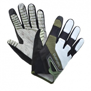 Shimano Trail Gloves Long Fingers White/Olive
