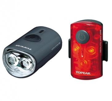 Topeak Mini USB Combo Front Rear Light Set TMS080