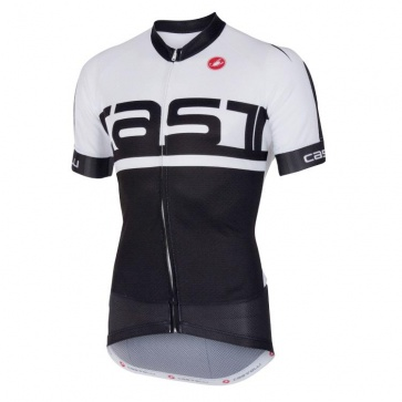 Castelli META Jersey FZ Short Sleeves Black White