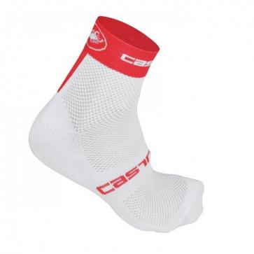 Castelli Free 6 Socks White Red