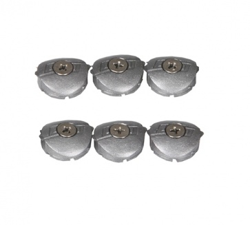 Speedplay Silver Dust Cap Kit- Titanium Pedal