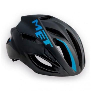 Met Rivale Road Bike Helmet Black Cyan