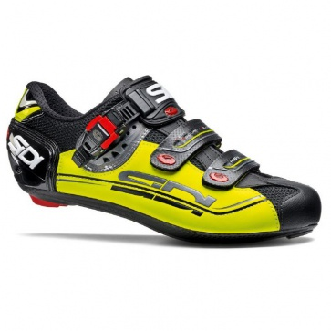 Sidi Genius 7 Road Bike Cycling Shoes Black Yellow Black