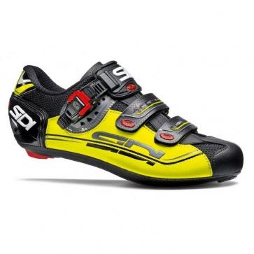 Sidi Genius 7 Mega Road Cycling Shoes Black Yellow Black