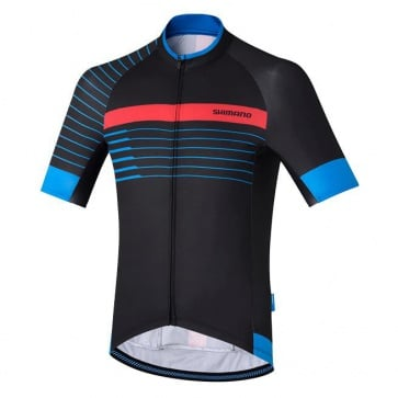 Shimano Breakaway Print Jersey Short Sleeves Black Blue