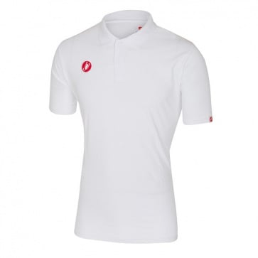Castelli Race Day Polo Jersey White