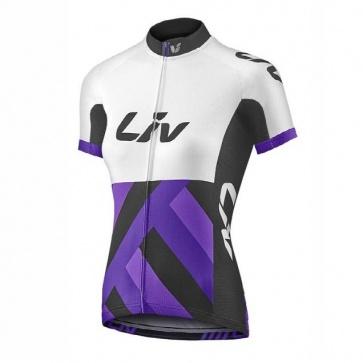 Giant Liv Race Day  Women Short Sleeve Jersey White/Purple