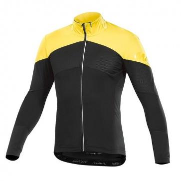 Mavic Cosmic Pro Wind Long Sleeve Jersey Black/Yellow