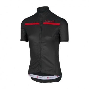 Castelli Women's Imprevisto Jersey Black/ Red