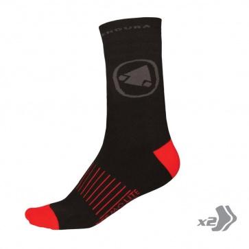 Endura Thermolite II Socks - 2 Pack Red