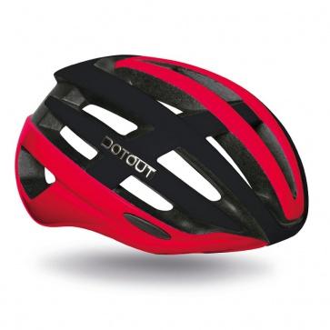 Dotout Targa Helmet Shiny Red-Matt Black