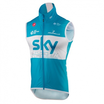 Castelli Pro Light Wind Vest, Team Sky Sky Blue