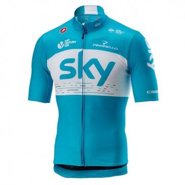 Castelli Podio Jersey FZ Team Sky Sky Blue