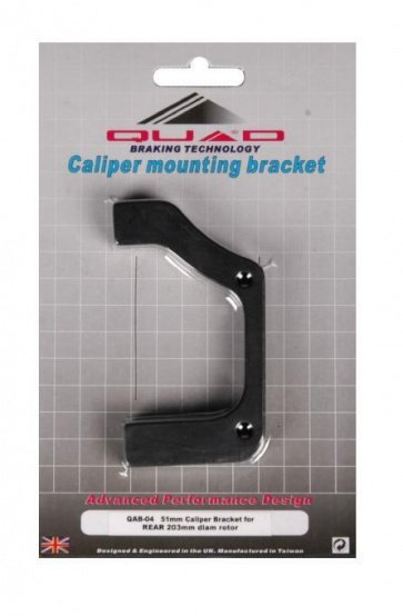 QAB-04 51mm Caliper Mounting Bracket for Rear 203mm diam rotor