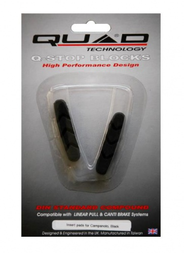 Quad Campagnolo V brake Shoes Pads Black