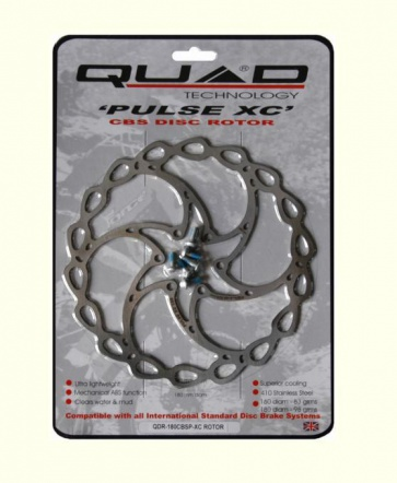 Quad Pulse XC Mountain Bike Disc Brake Rotor 180mm