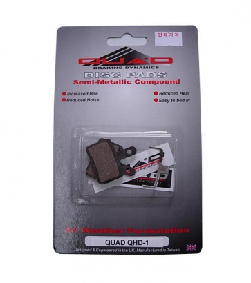 Quad QDP-05 Semi Metalic Disc Brake Pads Shoes for QHD-1