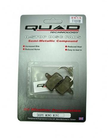 Quad QDP-41 hope mono semi metalic disc brake pads shoes
