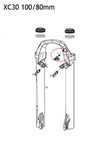RockShox Hydraulic Hose Clamp Part XC30