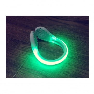 Ciclis Shoe Safety Clip Light LED Green