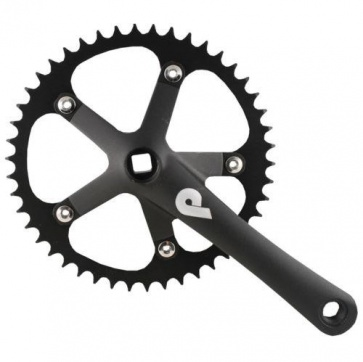 Pake Track Bicycle Crank Set 1-8inch 170mm Black