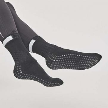 Rexy Max Grip Crew Socks Black