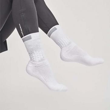 Rexy Elite Max Grip Crew Socks White