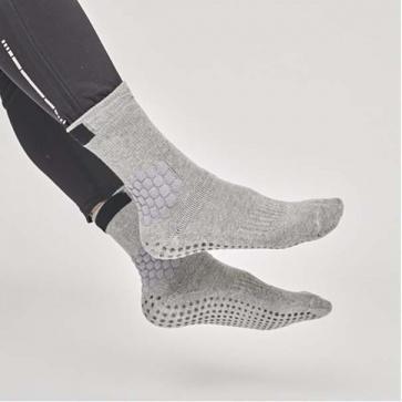 Rexy Elite Max Grip Crew Socks Grey