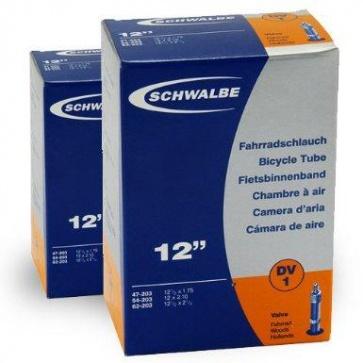 Schwalbe Bicycle Tube DV1 12 x 1.75~2.25 Fahrrad Woods Hollands